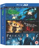 The Green Hornet./ Resident Evil: Afterlife/ Priest (Blu-ray 3D)[Region Free] Blu Ray