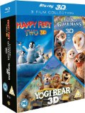 Happy Feet 2/Yogi Bear/Legend Of The Guardians Triple Pack (Blu-Ray 3D)[Region Free] Blu Ray