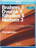 Brahms 1, Dvorak 9, Sibelius 5, Nielsen 3, Four Symphonies: Dausgaard (C Major: 710604) [Blu-ray] [2012] [Region Free]