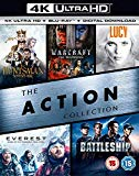 The Action Collection (4K UHD+BD+UV) (The Huntsman Winters War / Warcraft The Beginning / Lucy / Everest / Battleship ) [Blu-ray] [2017]