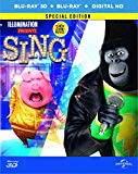 SING (Steelbook)3D BD + 2D BD+ digital download (Amazon Exclusive) [Blu-ray] [2017]