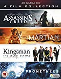 4K UHD Film Collection (Assassin's Creed, The Martian, Kingsman & Prometheus) [4K Blu-ray] [2017]