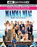 Mamma Mia! Here We Go Again (4KUHD + Blu-ray + Digital Download) [2018] [Region Free]